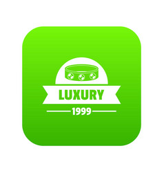Luxury icon green vector