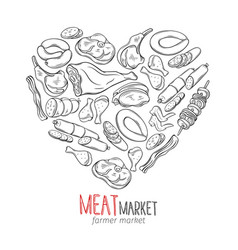 meat product vector image