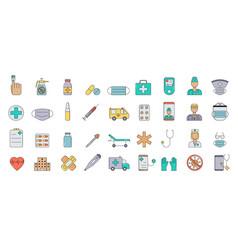 Medicine equipment doctors medicines help simple vector