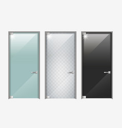 modern doors made of glass vector image