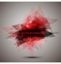 Modern geometric red background vector