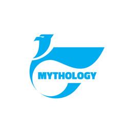 mythology - logo template concept vector image
