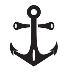 nautical anchor icon simple style vector image