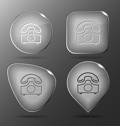 Old phone Glass buttons vector image