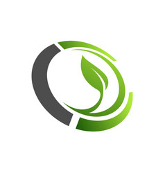 organic farming logo design idea good food vector image