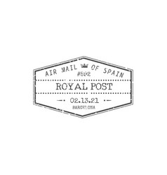 post stamp boston airmail symbol isolated triangle vector image