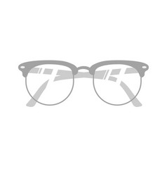 realitic glasses isolated on white vector image