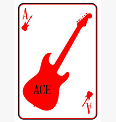 Red curvy guitar ace vector