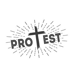return to the gospel protest only christ vector image