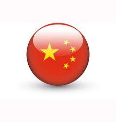 Round icon with national flag of China vector