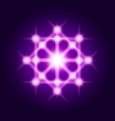 sacred geometry sign shine geometrical symbol vector image