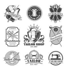 Set of tailor emblem signage vector image