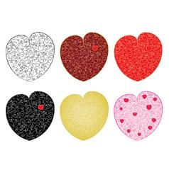 set of valentines vector image