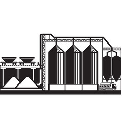 Silos for grain cereals vector