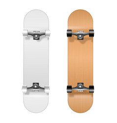 skateboarding realistic 3d white and vector image