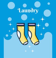 Socks laundry concept vector