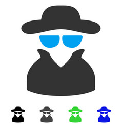 Spy flat icon vector