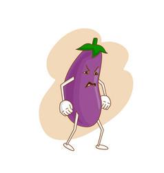 Surprised emotional vegetable in cartoon style vector