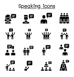talk speech discussion dialog speaking chat vector image