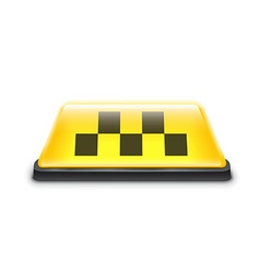 Taxi yellow car roof sign isolated on white vector image