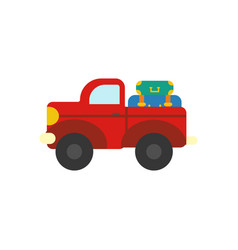 truck with luggage vector image