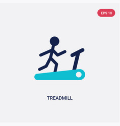 Two color treadmill icon from health concept vector