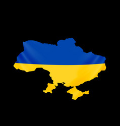 ukraine flag in form map ukraine national vector image