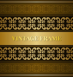 Vintage victorian golden card vector image