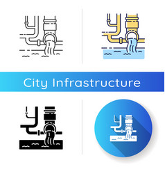 Water supply icon vector