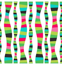 Wavy stripes mosaic seamless abstract wave vector