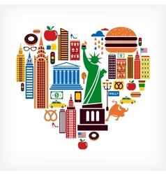 New York love vector image vector image