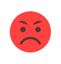 red angry cartoon face emoji people emotion icon vector image vector image