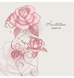 Retro flowers romantic roses vector image vector image