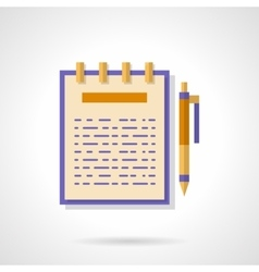 Articles creating flat color icon vector image vector image