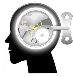 head with mechanism vector image