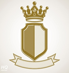 Heraldic royal blazon - imperial striped vector image