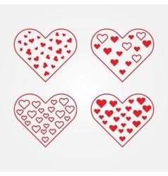 Set of heart symbols vector image