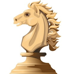 white chess horse vector image vector image