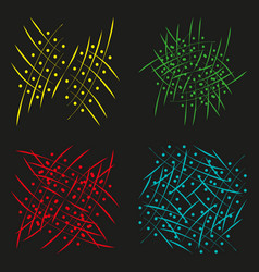 a set of abstract wings and links vector image