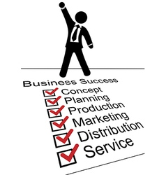 Business person on Success check list vector image