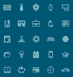Businessman item blue line icons vector image vector image