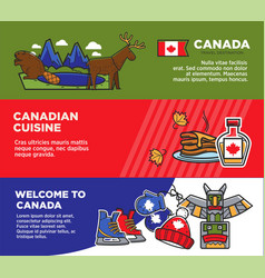 canada tourism travel attraction landmarks and vector image vector image
