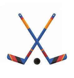 Crossed Hockey Sticks vector image