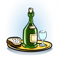 food and wine icon vector image vector image