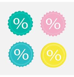 Label sale percent set Flat design vector image vector image