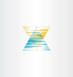 letter x scratch logo icon symbol vector image vector image