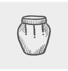 Percussion instrument sketch icon vector image