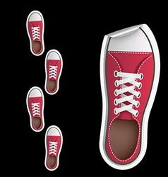 Stickers sneakers vector image
