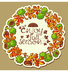 chestnut wreath vector image vector image
