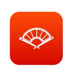 fan icon digital red vector image